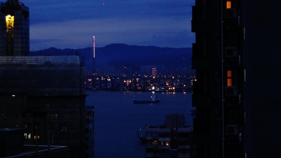dusk from a Hong Kong window